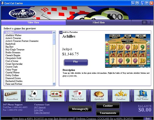 mobile casino bonuses cool cat